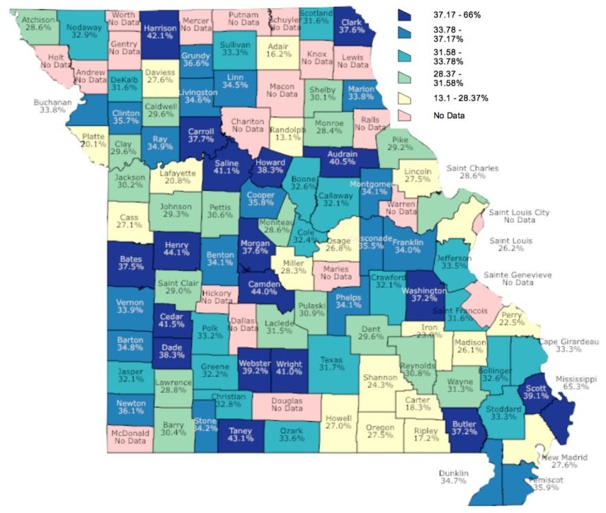 Bullying Victim Map and Key 2016